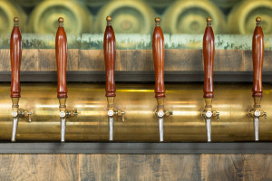 image of beer pumps at work